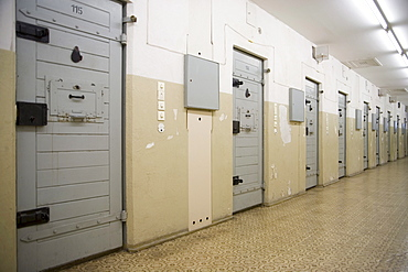 Cell tract in the new building of the former secret service remand prison, Berlin-Hohenschoenhausen memorial, former prison of the GDR's secret service, Berlin, Germany, Europe