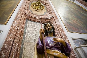 Jesus statue in the Basilica Santa Maria degli Angeli, Rome, Lazio, Italy, Europe