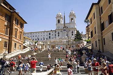 Santa Trinita dei Monti church, Piazza di Spagna, Spanish Steps, Rome, Lazio, Italy, Europe
