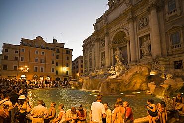 Fontana di Trevi fountain, Rome, Lazio, Italy, Europe