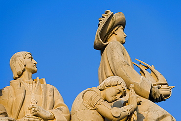 Detail of Monument to the Discoveries, Lisbon, Portugal, Europe