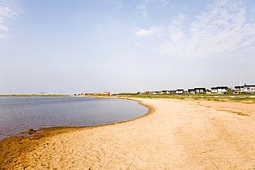 Beach in Bork Havn at Ringkoebing Fjord, West Jutland, Denmark, Europe