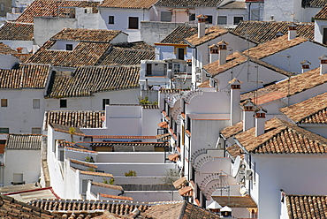 Roofs and chimneys in Ronda, Andalusia, Spain, Europe
