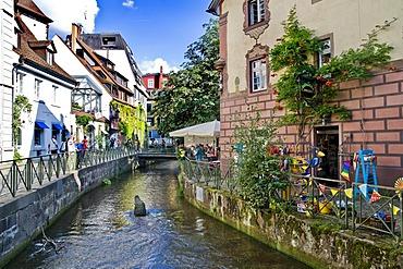 Old Town with Freiburg Baechle canal, Freiburg im Breisgau, Baden-Wuerttemberg, Germany