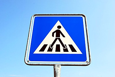 Traffic sign, pedestrians crossing, road safety