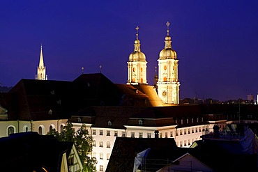 Abbey church St. Gall, St. Gallen, Canton St. Gallen, Switzerland, Europe Unesco World culture heritage