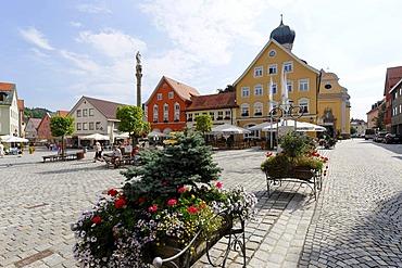 Marienplatz, Immenstadt im Allgaeu, Upper Allgaeu, Swabia, Bavaria, Germany, Europe