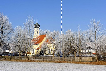 St. Heinrich at the Starnberger See, Starnberg Lake, Upper Bavaria, Germany, Europe
