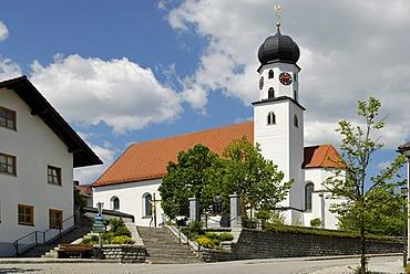Parish church of Saint Martin, Konzell, Bavarian Forest, Lower Bavaria, Bavaria, Germany, Europe