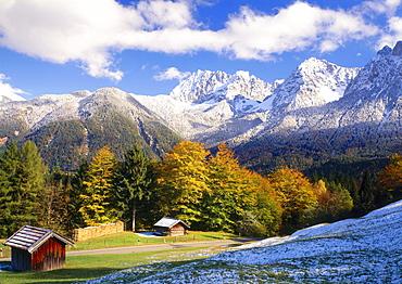Karwendel mountains near Mittenwald, Upper Bavaria, Germany, Europe