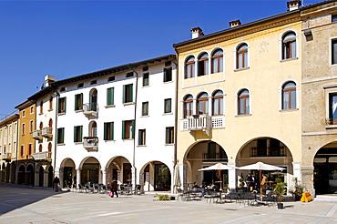 Piazza del Populo, Sacile, Friuli-Venezia Giulia, Italy, Europe
