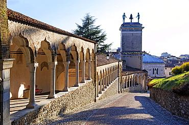 Way to the Castello from the Piazza Liberta, Udine, Friuli-Venezia Giulia, Italy, Europe