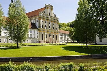 Former Cistercian abbey Fuerstenfeld, Fuerstenfeldbruck, Upper Bavaria, Germany, Europe