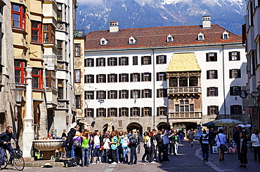 Goldenes Dachl, Golden Roof, historic town, Innsbruck, Tyrol, Austria, Europe