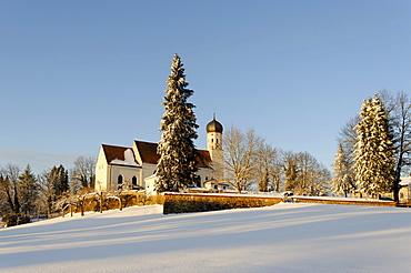 Bad Heilbrunn, Toelzer County, church St. Kilian, Upper Bavaria, Germany, Europe