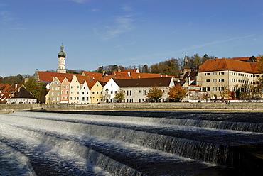 Landsberg upon the Lech river, Upper Bavaria, Germany Europe
