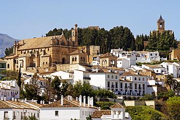 Castle and castle church Santa Maria, Antequera, Andalusia, Spain, Europe