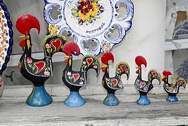 Galos de Barcelos, ceramic goods, Batalha, Central Portugal, Portugal, Europe