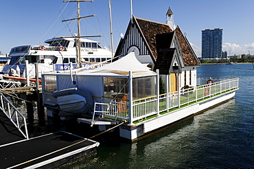 Floating church, chapel in the harbor of Surfers Paradise, Gold Coast, Queensland, Australia