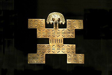 Pre-Columbian goldwork collection, jaguar as a symbol for the regenerative powers of gold and the Sun, Gold Museum, Museo del Oro, Bogota, Colombia, South America