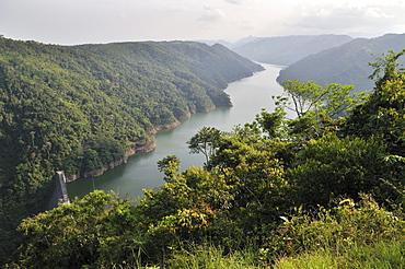 Reservoir of the La Miel hydroelectric power plant, Caldas, Colombia, South America