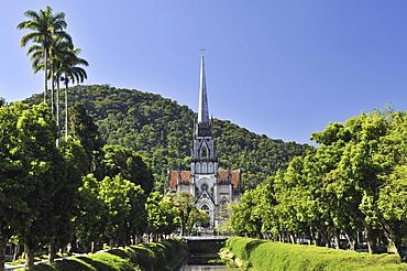 Neo-Gothic cathedral in Petropolis, Rio de Janeiro, Brazil, South America