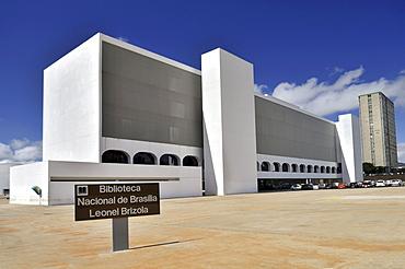 Biblioteca Nacional Leonel de Moura Brizola National Library, architect Oscar Niemeyer, Brasilia, Distrito Federal state, Brazil, South America