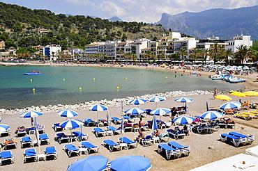 Platja den Repic Beach, Port de Soller, Majorca, Balearic Islands, Spain, Europe
