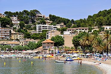 Beach of Platja des Traves, Port de Soller, Majorca, Balearic Islands, Spain, Europe