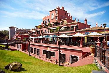 Building complex with restaurant, Puerto de la Cruz, Tenerife, Spain