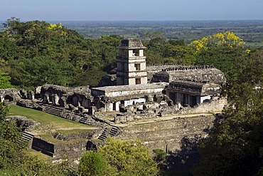 Palenque, The Palace, UNESCO World Heritage Site, Yucatan, Mexico