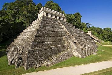 Palenque, UNESCO World Heritage Site, Templo de las Inscripciones, Temple of Inscriptions, Yucatan, Mexico