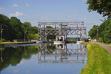 Canal du Centre, Boat Lift number 2, Unesco World Heritage Site, Houdeng Goegnies, Hainaut Province, Belgium