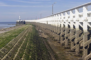 Pier, Nieuwpoort, Belgian North Sea Coast, Belgium