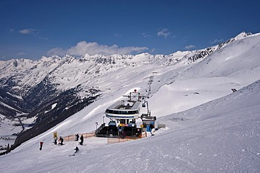 Top express, ski lift between Obergurgl to Hochgurgl, Oetztal Valley, Tyrol, Austria