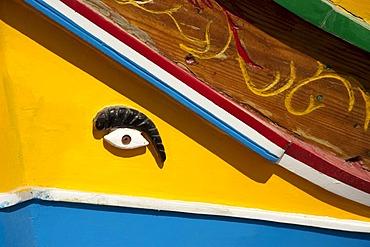 Fishing boat, harbor, Luzzu, Marsaxlokk, Malta