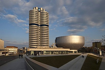 BMW building and BMW Museum, Munich, Bavaria, Germany, Europe