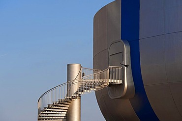 External staircase at the BMW Museum, Munich, Bavaria, Germany, Europe
