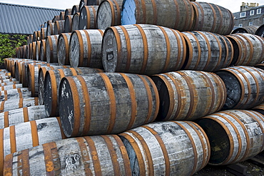 Whisky barrels, Springbank Whisky Distillery, Campbeltown, Scotland, United Kingdom, Europe