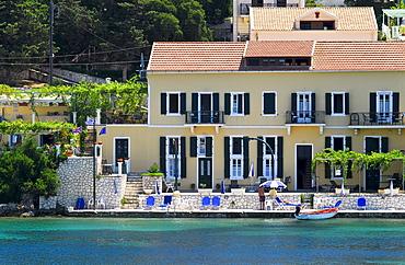 Resort in Fiscardo, Kefalonia, prefecture Kefallinia and Ithaka, Ionian Islands, Greece, Europe