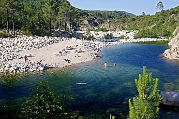 Solenzara River, Bavella mountain group, Corsica, France, Europe