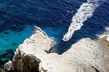 Limestone cliffs, Bonifacio, Corsica, France, Europe
