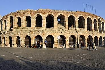 Verona Arena, Piazza Bra square, Lake Garda, Italy, Europe