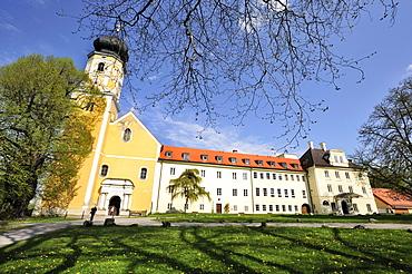 Church of Saint Martin, former collegiate church of the Augustinian canons of Bernried on Lake Starnberg, Upper Bavaria, Bavaria, Germany, Europe