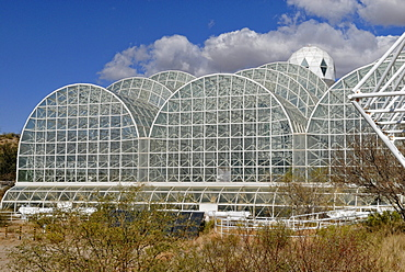Biosphere 2, Science and Research Center, partial view, Tucson, Arizona, USA