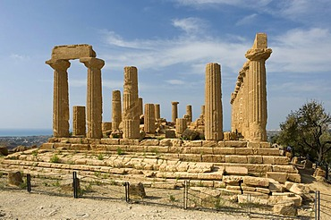 Juno Lacinia temple or Hera temple, Valley of the Temples, Agrigento, Sicily, Italy