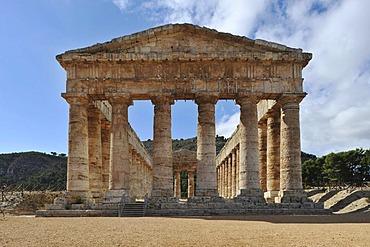 Greek temple in Segesta, Sicily, Italy