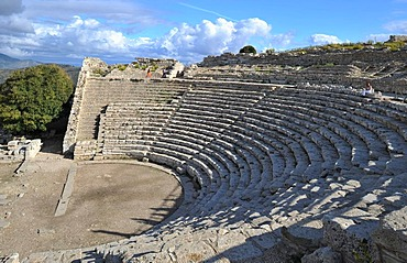 Greek theater, 3rd cent. BC at the temple of Segesta, Syracuse, Sicily, Italy