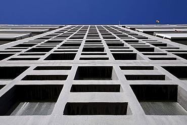 Plattenbau, pre-fab tower block, in Berlin, Germany
