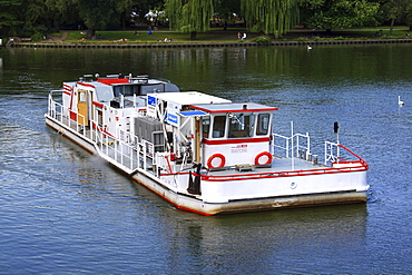 Rudolf Kloos oxygen ship on the Landwehr canal in Berlin, Germany, Europe